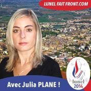 Lunel fait front - Julia Plane FN RBM - Municipales 2014